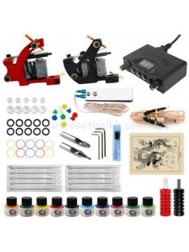 Zestaw Do Tatuażu Jeden Czarny I Jeden Czerwony Machine 10 Kolors