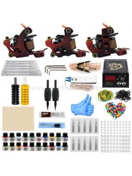 Zestaw Do Tatuażu Trzy Czerwony Machines 20 Kolors