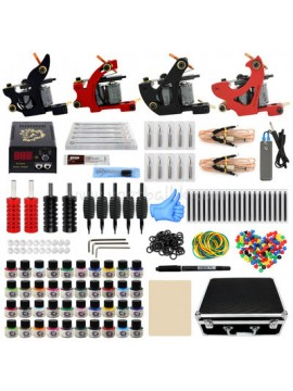 Zestaw Do Tatuażu Dwa Czarny I Dwa Czerwony Machine 40 Kolors