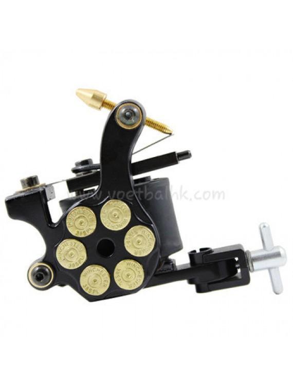 Maszynka Do Tatuażu N105 10 Cewka Warstwowa Żelazny Shader Bullet Czarny