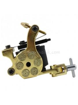 Maszynka Do Tatuażu N105 10 Cewka Warstwowa Żelazny Shader Bullet Złoto
