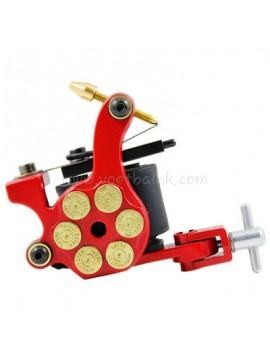 Maszynka Do Tatuażu N105 10 Cewka Warstwowa Żelazny Shader Bullet Czerwony