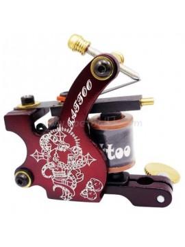 Maszynka Do Tatuażu N106 10 Cewka Warstwowa Żelazny Shader Czerwony Literowanie
