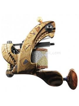 Maszynka Do Tatuażu N109 10 Cewka Warstwowa Damaszek Stalowy Shader Złoto
