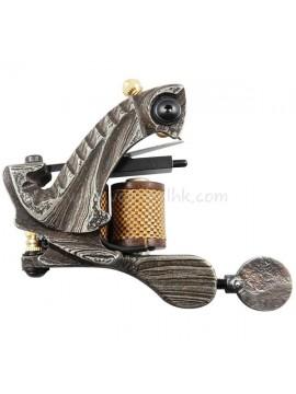 Maszynka Do Tatuażu N109 10 Cewka Warstwowa Damaszek Stalowy Shader Szary