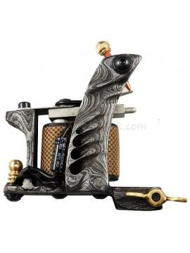Maszynka Do Tatuażu N109 10 Cewka Warstwowa Damaszek Stalowy Shader Wzór