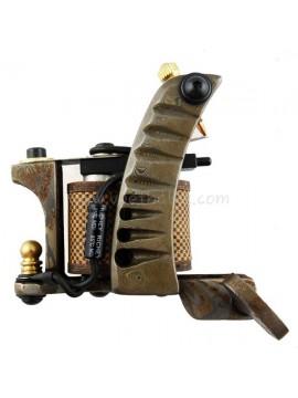 Maszynka Do Tatuażu N109 10 Cewka Warstwowa Damaszek Stalowy Shader Srebro