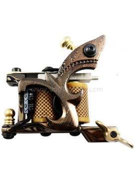 Maszynka Do Tatuażu N109 10 Cewka Warstwowa Damaszek Stalowy Shader Żółty