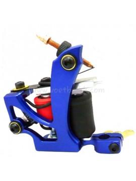 Maszynka Do Tatuażu N110 10 Cewka Warstwowa Kolor Aluminiowy Shader Latający Niebieski