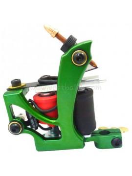 Maszynka Do Tatuażu N110 10 Cewka Warstwowa Kolor Aluminiowy Shader Latający Zielony