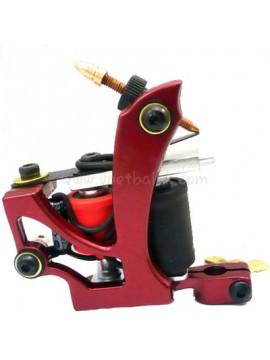 Maszynka Do Tatuażu N110 10 Cewka Warstwowa Kolor Aluminiowy Shader Latający Czerwony