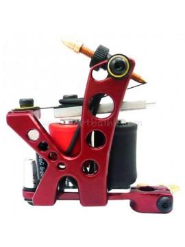 Maszynka Do Tatuażu N110 10 Cewka Warstwowa Kolor Aluminiowy Shader Otwór Czerwony