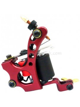 Maszynka Do Tatuażu N110 10 Cewka Warstwowa Kolor Aluminiowy Shader Czerwony